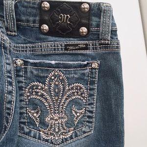 Miss Me Fleur de Lis Bootcut Jeans